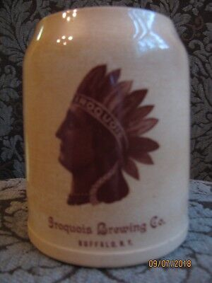 Iroquois Brewery Indian Head Vintage Beer Mug Pre Prohibition.By Thuemler Mfg Co