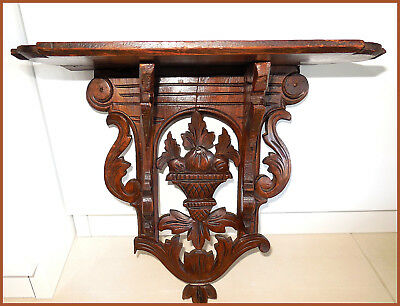 Antique black forest shelf early 1870s made of wood