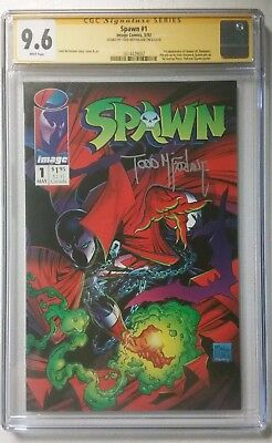 Spawn 1 Cgc Ss Signed By Todd Mcfarlane 9.6..special Announced By The President