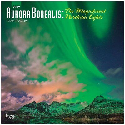 BrownTrout Aurora Borealis Wall Calendar, Astronomy by Calendars