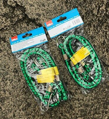 """Hilka 4pc Heavy Duty 24"""" (600mm) x 12mm Bungee Straps Cord - 4 Pack"""