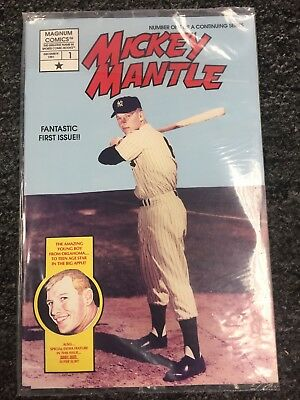 Lot Of (5) 1991 Mickey Mantle Comic Book Magnum #1