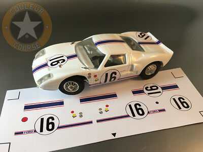 Stickers Pour Ford Gt40 Jouef 1/40 Ref Gt40#16 (No Decal Ideal Slot)