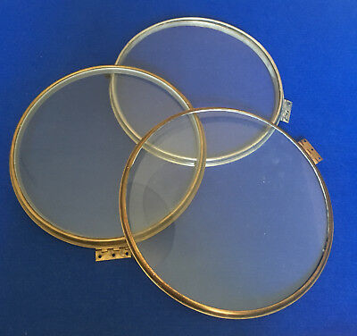Three approx 12 inch Clock Bezels