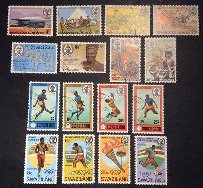 SWAZILAND 1974-76 4 x FINE USED SETS
