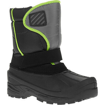 Boys New Classic Winter Boots Size 13 Black / Lime Boots Winter Children NEW