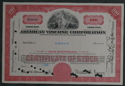 American Viscose Corporation 1963 100 Shares .