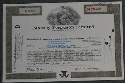 Massey-Ferguson Limited 1978 200 Shares .