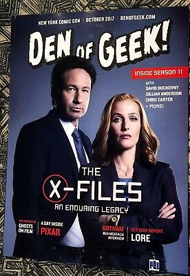 "New York Comic Con 2017 - NYCC 2017 The X-Files ""Den of Geek"" Magazine October"