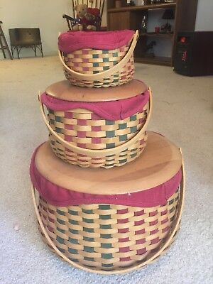 Longaberger Basket  Set Christmas