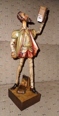 Large Hand Carved Wood Don Quixote Figure