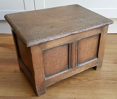 Charming Antique Small Country Oak Coffer early piece - rustic
