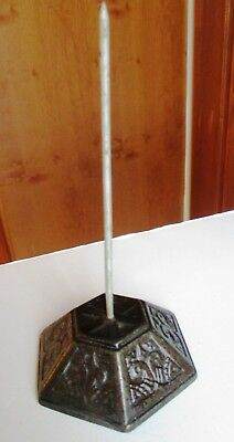 "Antique Victorian Cast Iron BILL RECEIPT SPIKE HOLDER  6""H"