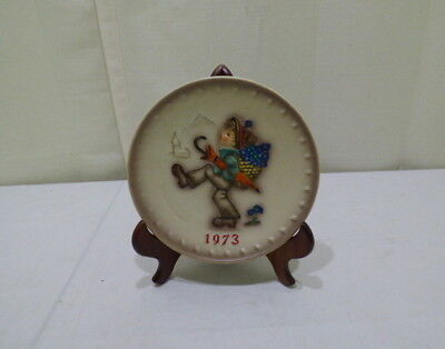 Vintage M.J. Hummel Goebel Collectible 3rd Annual Plate 1973 #HUM266