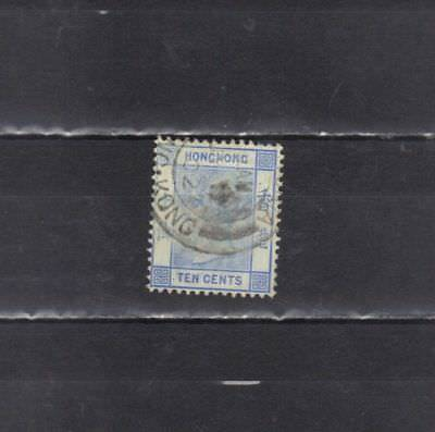 British Colonies-Hong Kong-China-1862-10 Cent Used  Stamps (4h)