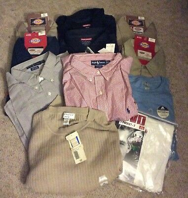 Huge Lot of 51 Big Mens size clothing 2x & 3x Shirts, 44 to 50 inch waists New