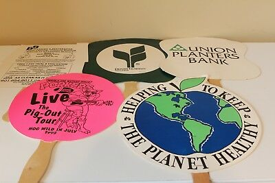 Lot Of 5 Hand Held Fans Advertising Church Fans Jackson Ms Businesses