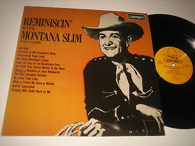 LP Montana Slim (Wilf Carter): Reminiscin' With - DE / UK Stetson HAT 3085