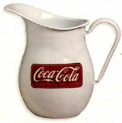 Coca Cola  Enamelware Pitcher NEW Old Stock  Nine Inches
