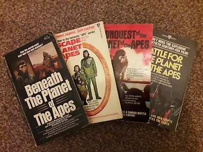 Planet of the Apes sequels books (1970s editions)