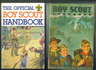 The Official BOY SCOUT HANDBOOK 2 Book Lot Boy Scouts Of AMERICA Books 1967 1985