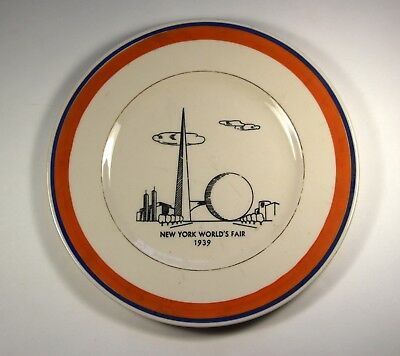 1939 New York World's Fair SOUVENIR PLATE