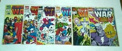 Marvel Comics The Infinity War Complete 6 Issue Comic Book Series