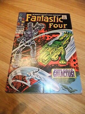 Marvel Comic Fantastic Four 74 May 1968 Silver Surfer Galactus