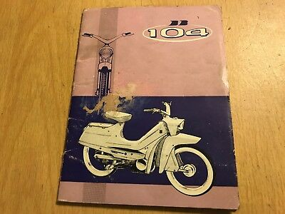 Peugeot Bb104 Bb 104 Moped Scooter Owners Riders Handbook