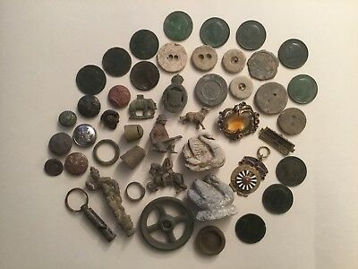Collection Of Metal Detecting Finds.