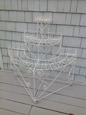 Authentic Antique French Victorian Twisted Wire Plant Stand   Circa 1870