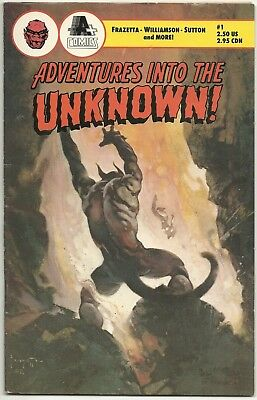 Horror LOT 6 Frazetta Adventures Into Unknown #1 Aliens #2 Cryptic Tales #1 Apes