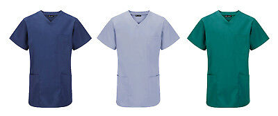 Unisex Hospital Medical Work Wear Surgical Dentist Doctor Scrub Tunic Top S-3XL
