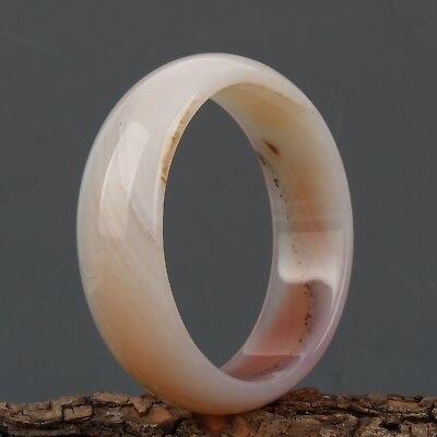 68mm Chinese Exquisite Hand carved natural agate bracelet