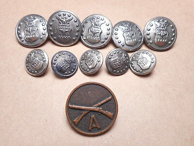 Vintage Military Buttons Waterbury Button Co.  Area 51 Estate
