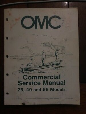 OMC EVINRUDE JOHNSON Outboard 25 40 55 HP Commercial Service Repair Manual