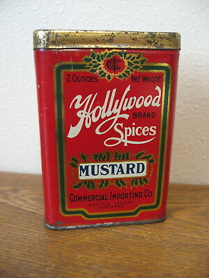 HOLLYWOOD brand Spice tin Commercial Importing Co. Seattle, Tacoma, Portland