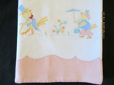 """Vintage MADEIRA Embroidered Baby Crib Sheet 34x50"""" Approx  Marghab?"""