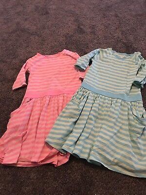Lot Of 2 Girls Dress Neon Teal And Orange Size Xl Or 14/16 By Circo Pockets