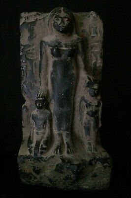 RARE EGYPTIAN ANTIQUES EGYPT Statue Motherhood Sculpture Stela STONE 1860 BCE
