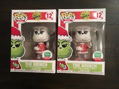 Funko POP! Books The Grinch #12 (Funko Shop LE) [Black & White] NEAR MINT