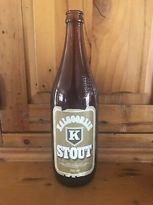 Kalgoorlie K Stout Paper Label Brown Bottle  750ml