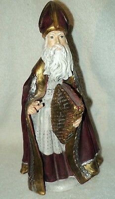 Duncan Royale History of Santa St. Nicolas Hand-Carved Wood Figure Ltd to 500