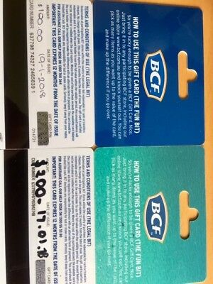 2 Gift cards One for $100 and another for $200 free postage valid till 19/01/20