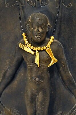 Egyptian Metropolitan Museum Of Art  Necklace Gold Plated Charms-Figural