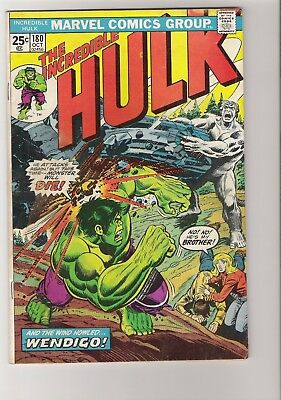 The Incredible Hulk #180 Very First App of Wolverine High Mid Grade Key Issue