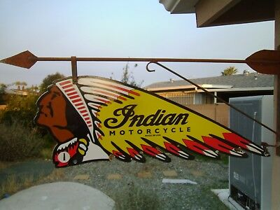 Indian Motorcycle Double sided porcelain sign