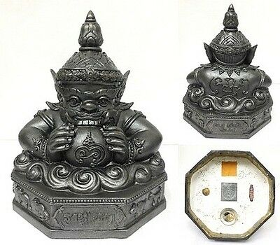 Phra Rahu Thai Buddha Talisman Amulet holy Rich Wealth Magic Lucky