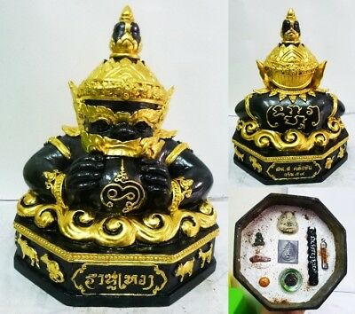 Phra Rahu Thai Buddha Talisman Amulet holy Rich Wealth Magic Lucky SAMLIT