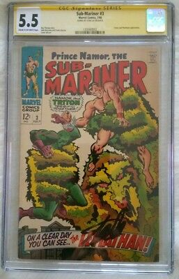 Submariner 3 Cgc Ss Signed By Stan Lee